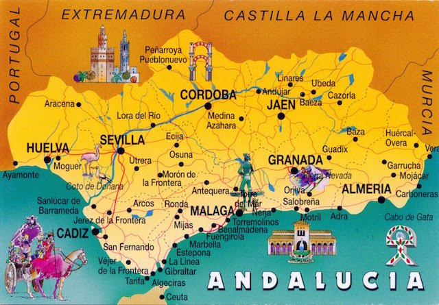 SPAIN - Andalusia map (1)