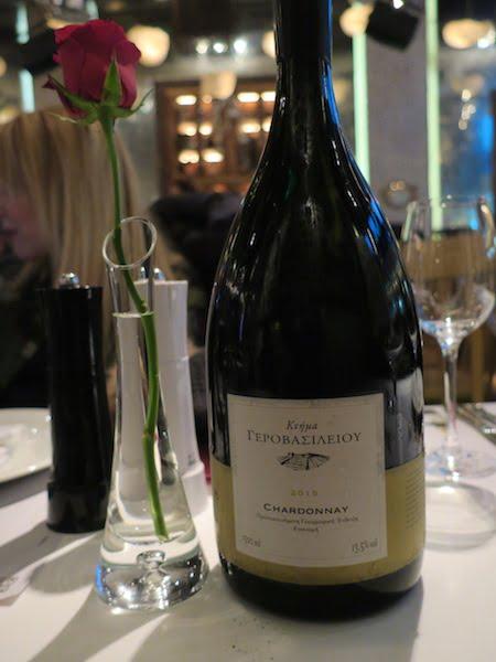 selanik 7thalasses restaurant beyaz sarap chardonnay
