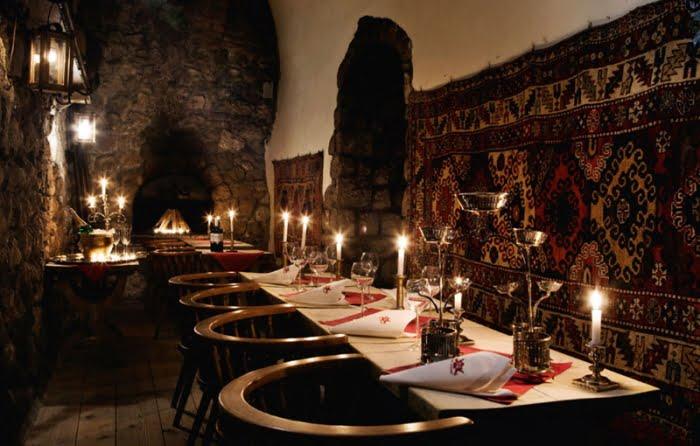 en romantik restaurant Krakow